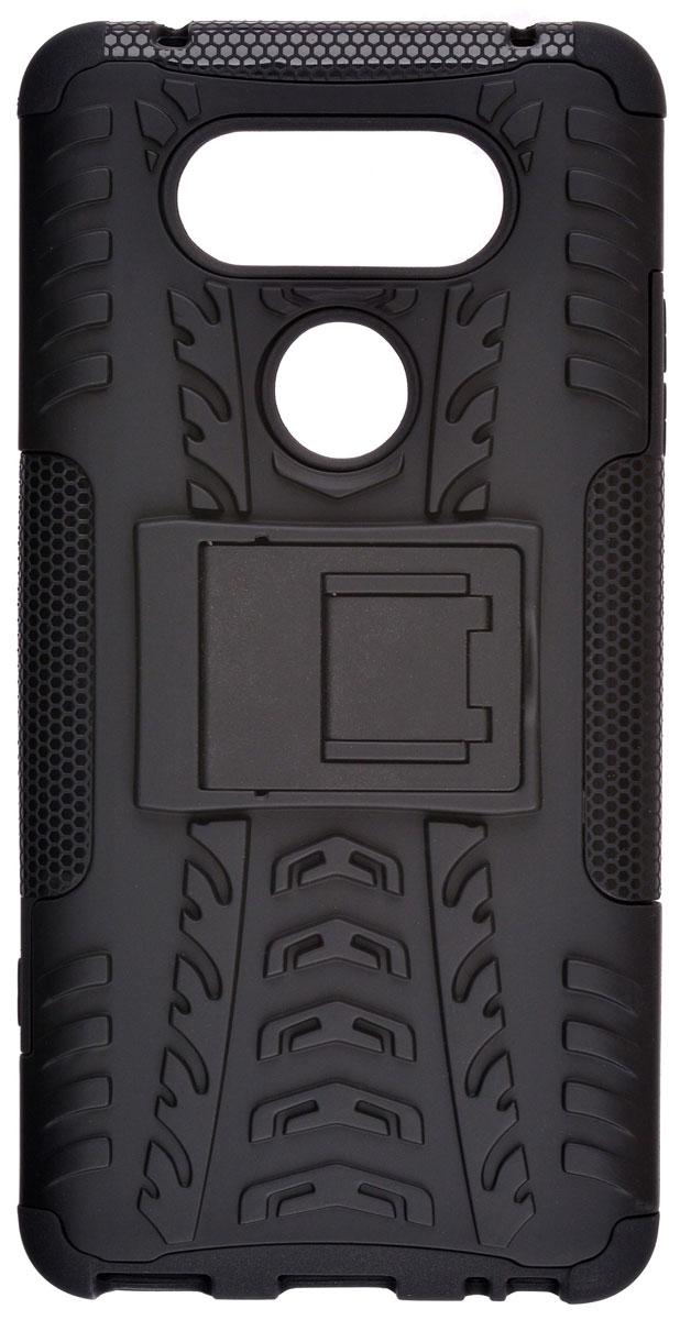 Skinbox Defender case чехол-накладка для LG V20, Black2000000111223Skinbox Defender case надежно защищает ваш смартфон от внешних воздействий, грязи, пыли, брызг. Он также поможет при ударах и падениях, не позволив образоваться на корпусе царапинам и потертостям. Чехол обеспечивает свободный доступ ко всем функциональным кнопкам смартфона и камере.