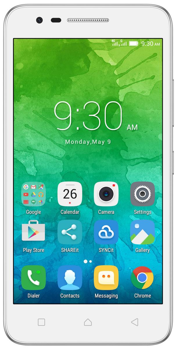 Lenovo Vibe C2 (K10A40), WhitePA450059RUСтильный смартфон Lenovo Vibe C2 с 5-дюймовым экраном HD, мощным четырехъядерным процессором и двумя камерами высокого разрешения — и все это в стандартной комплектации. Помимо поддержки стандарта 4G, в этом смартфоне есть сменный аккумулятор, слот для карт памяти MicroSD и поддержка двух SIM-карт. Стильное матовое покрытие и 5-дюймовый дисплей с HD-разрешением: смартфон Lenovo Vibe C2 просто нельзя не заметить. Узнавай новости и получай необходимую информацию одним движением, не переключаясь между приложениями и не сворачивая экран. Благодаря технологии энергосбережения смартфон работает дольше. Используй приложения и переключайся между ними так, как тебе удобно. Все эти задачи и многие другие возможности доступны благодаря операционной системе Android 6.0 (Marshmallow). Lenovo Vibe C2 обеспечивает высочайший уровень производительности с первых минут использования. Благодаря четырехъядерному процессору 1,0 ГГц ты можешь легко выполнять несколько...
