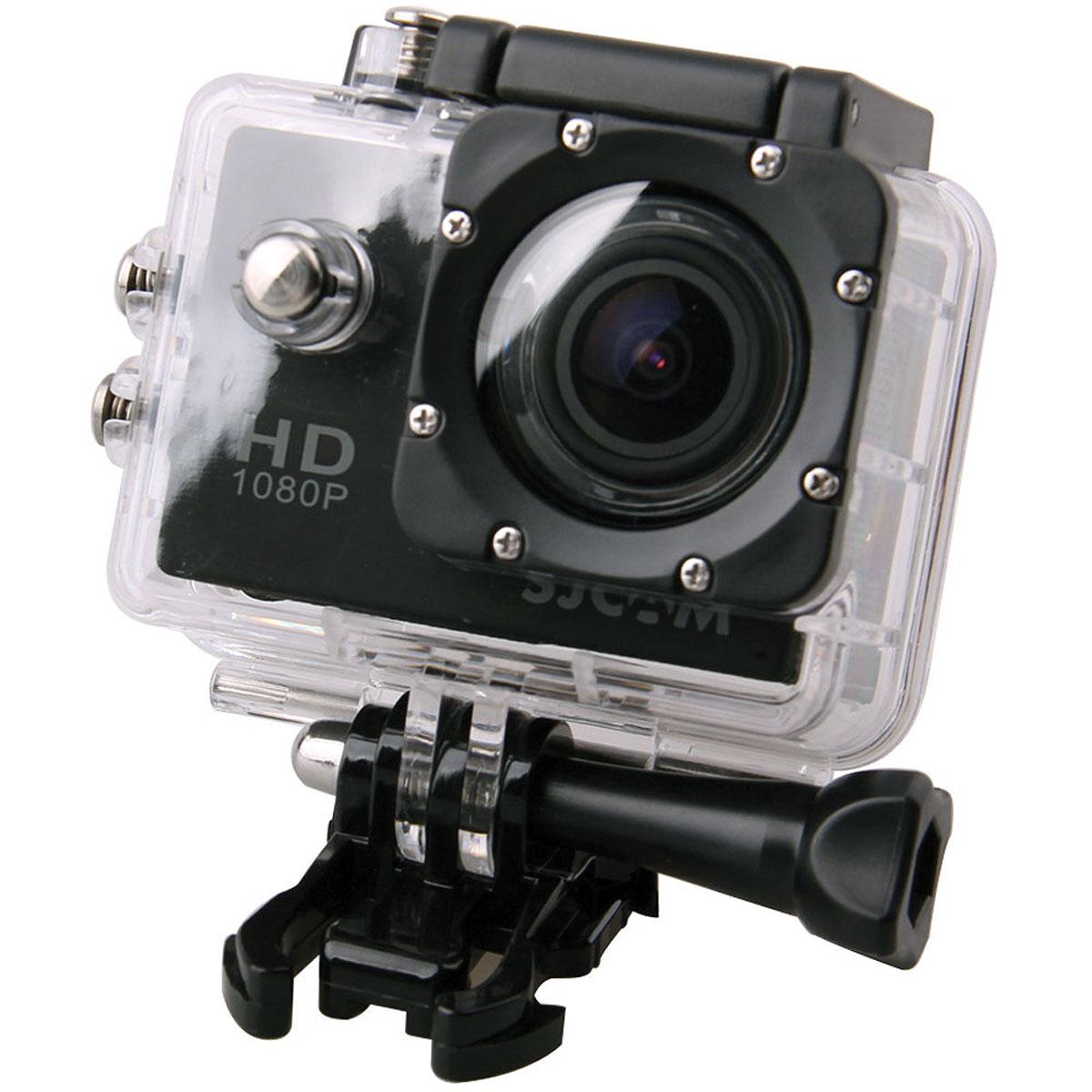 SJCAM SJ4000, Black экшн-камераSJ4000BlackSJCAM SJ4000 - это недорогой и качественный аналог GoPro. С ее помощью можно снимать экстремальные события, закрепив камеру в удобном месте. Вы также можете делать впечатляющие съёмки под водой на глубине до 30 метров благодаря водонепроницаемому боксу в комплекте. Благодаря режиму цейтаоферной съёмки камера SJCAM может сжимать многочасовые события (например, расцветающую розу) до нескольких секунд. Теперь восход солнца после съёмки произойдёт прямо на глазах ваших друзей! SJCAM SJ4000 может быть использована в качестве видеорегистратора благодаря возможности циклической записи. Для этого разместите её на стекле автомобиля с помощью специального крепления и нажмите на кнопку записи. Данную модель можно использовать и в качестве Full HD веб-камеры. Всё, что необходимо сделать - это подключить SJCAM к компьютеру через кабель USB и запустить Skype. Камера SJ4000 подойдёт практически для любых видов спорта. В комплекте вы найдёте...