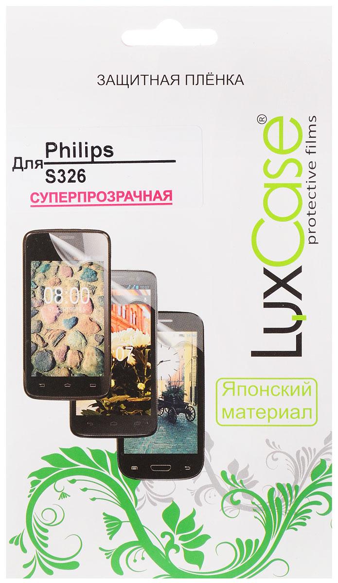 LuxCase защитная пленка для Philips S326, суперпрозрачная50377Защитная пленка LuxCase для Philips S326 сохраняет экран смартфона гладким и предотвращает появление на нем царапин и потертостей. Структура пленки позволяет ей плотно удерживаться без помощи клеевых составов и выравнивать поверхность при небольших механических воздействиях. Пленка практически незаметна на экране смартфона и сохраняет все характеристики цветопередачи и чувствительности сенсора.
