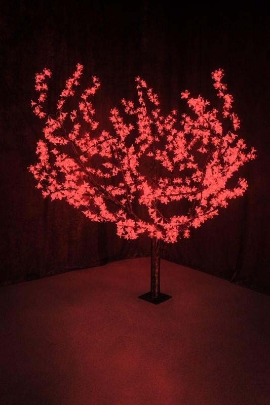 Светодиодное дерево Neon-Night Сакура, цвет: красный, диаметр кроны 180 см, высота 150 см531-102Световое дерево Сакура светодиодное, диаметр 1,8 м, высота 1,5 м, 864 лепестка