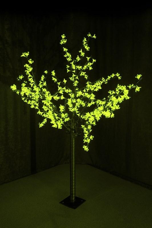Светодиодное дерево Neon-Night Сакура, цвет: зеленый, диаметр кроны 130 см, высота 150 см531-304Светящееся дерево Сакура, 1,5 м, диаметр 1,3м, 480 диодов, цвет зеленый, с понижающим трансформатором, 220-24В, 30Вт
