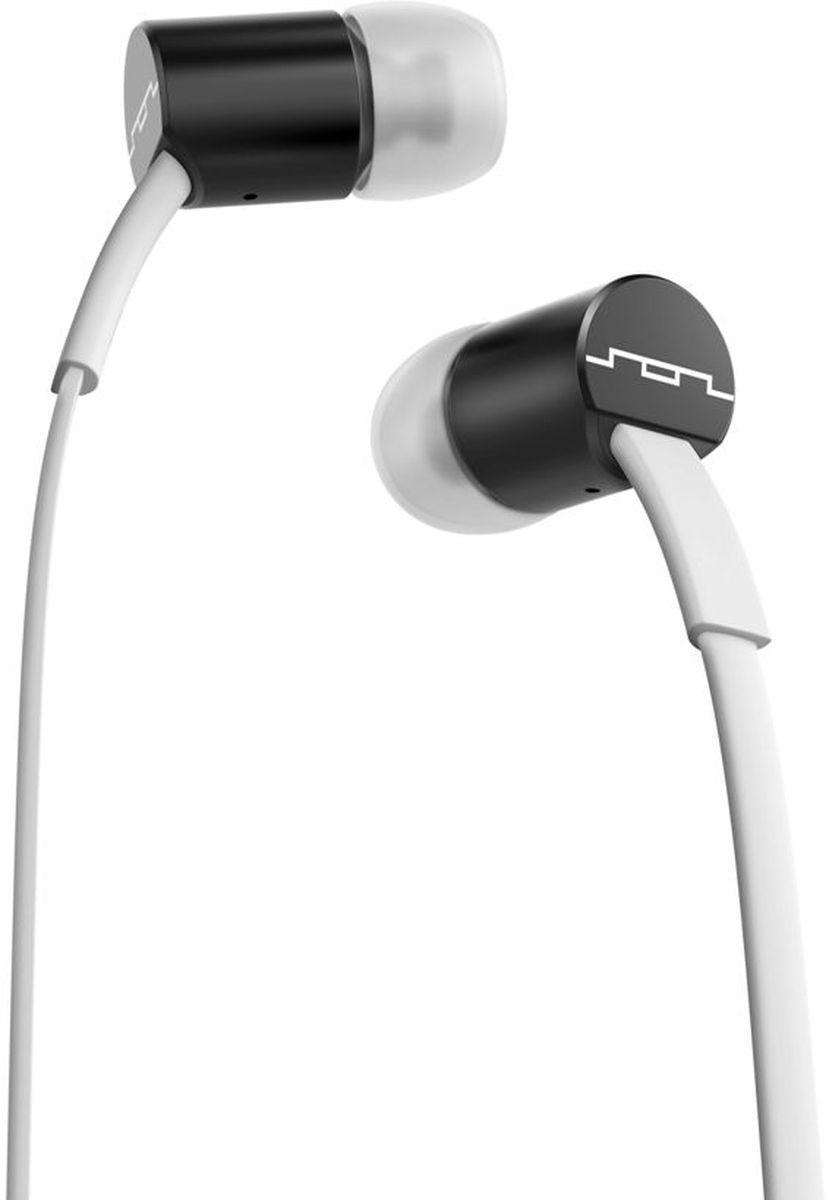 Sol Republic 1111-31 Jax Mfi, White Black наушники1111-31Внутриканальные наушники Sol Republic 1111 - это качественный звук, который всегда под рукой. Благодаря динамикам i2 Sound Engine наушники выдают мощное и насыщенное басами звучание, которое превзойдет ваши ожидания. Наушники снабжены плоским кабелем, а значит, вам не придется тратить кучу времени на распутывание проводов. Интегрированный трехкнопочный пульт ДУ с микрофоном позволят управлять воспроизведением, громкостью и отвечать на телефонные звонки. Комплект из сменных насадок четырех размеров обеспечит комфорт и прекрасную звукоизоляцию для использования наушников в транспорте или в другой шумной обстановке. В комплекте фирменный чехол.
