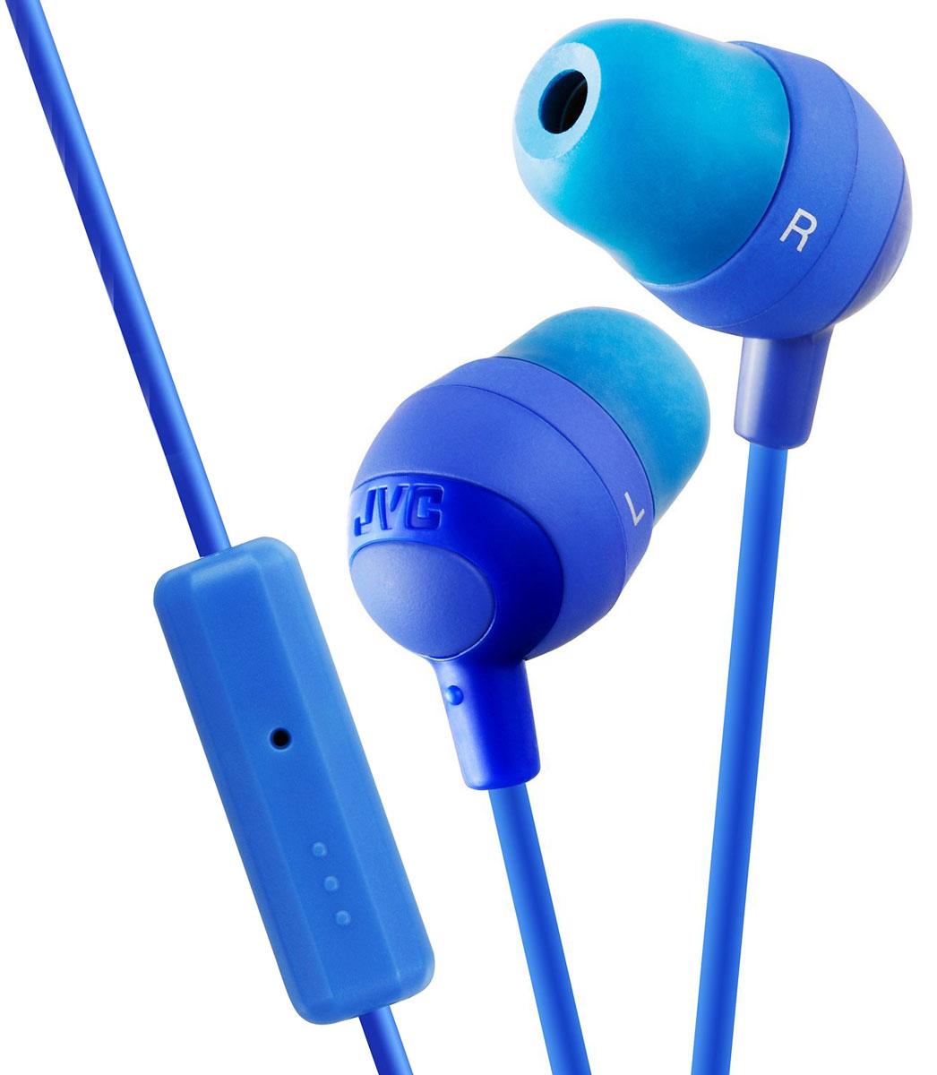 JVC Marshmallow HA-FR37-A, Blue наушникиHA-FR37-AНаушники-вкладыши JVC Marshmallow HA-FR37 имеют встроенный микрофон/пульт дистанционного управления для использования со многими популярными смартфонами и планшетами. Плотные вставные амбушюры обеспечивают превосходную звуковую изоляцию от фонового шума. Благодаря неодимовому магниту, используемому в 11 мм драйверах, вы получаете качественное звучание.