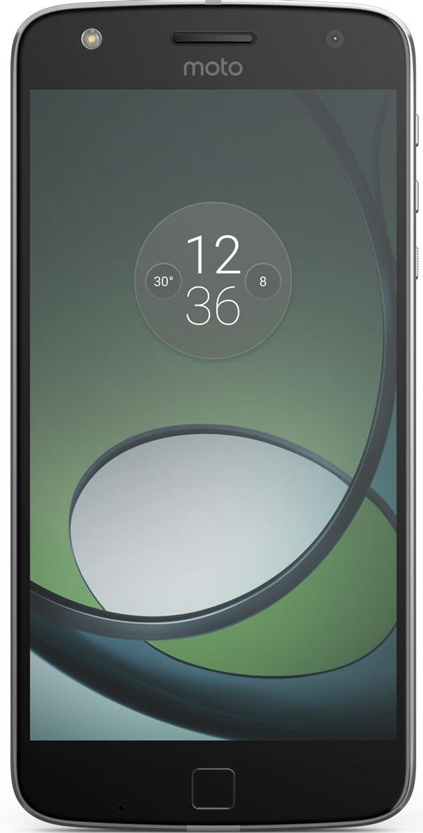 Moto Z Play, Black SilverSM4425AE7U1Moto Z Play. Превосходный аккумулятор. Неограниченные возможности. Модули Moto Mod открывают новые возможности использования телефона. Воплощай свои фантазии при помощи сменных задних панелей, которые крепятся к телефону на мощных встроенных магнитах. Чтобы ты ни задумал, всегда найдется подходящая панель Moto Mod. Что может быть хуже, чем поиск электрической розетки для подзарядки телефона уже после нескольких часов использования? К счастью, Moto Z Play может работать от аккумулятора до 50 часов — ты сможешь продолжить заниматься своими делами без подзарядки телефона. Время драгоценно. Не трать его на подзарядку своего смартфона. Всего несколько мгновений на зарядке, и можно продолжить движение. Функция быстрой зарядки TurboPower обеспечит до 10 часов автономной работы твоего устройства всего за 15 минут подзарядки. Благодаря камере 16 Мпикс и двум дополнительным системам автофокуса Moto Z Play позволяет делать четкие ...