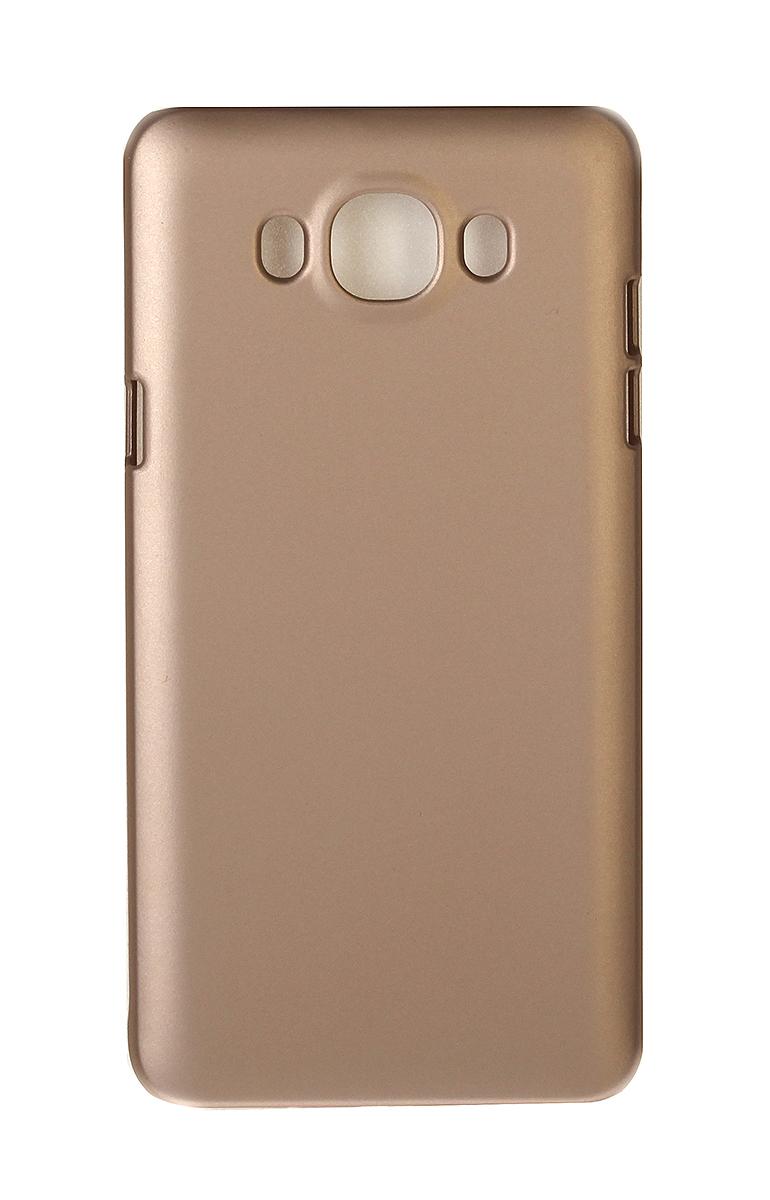 Pulsar Clipcase PC Soft-Touch чехол для Samsung Galaxy J7 2016, Gold21906Чехол Pulsar Clipcase PC Soft-Touch для Samsung Galaxy J7 (2016) бережно и надежно защитит ваш смартфон от пыли, грязи, царапин и других повреждений. Выполнен из высококачественных материалов, плотно прилегает и не скользит в руках. Чехол оставляет свободным доступ ко всем разъемам и кнопкам устройства.