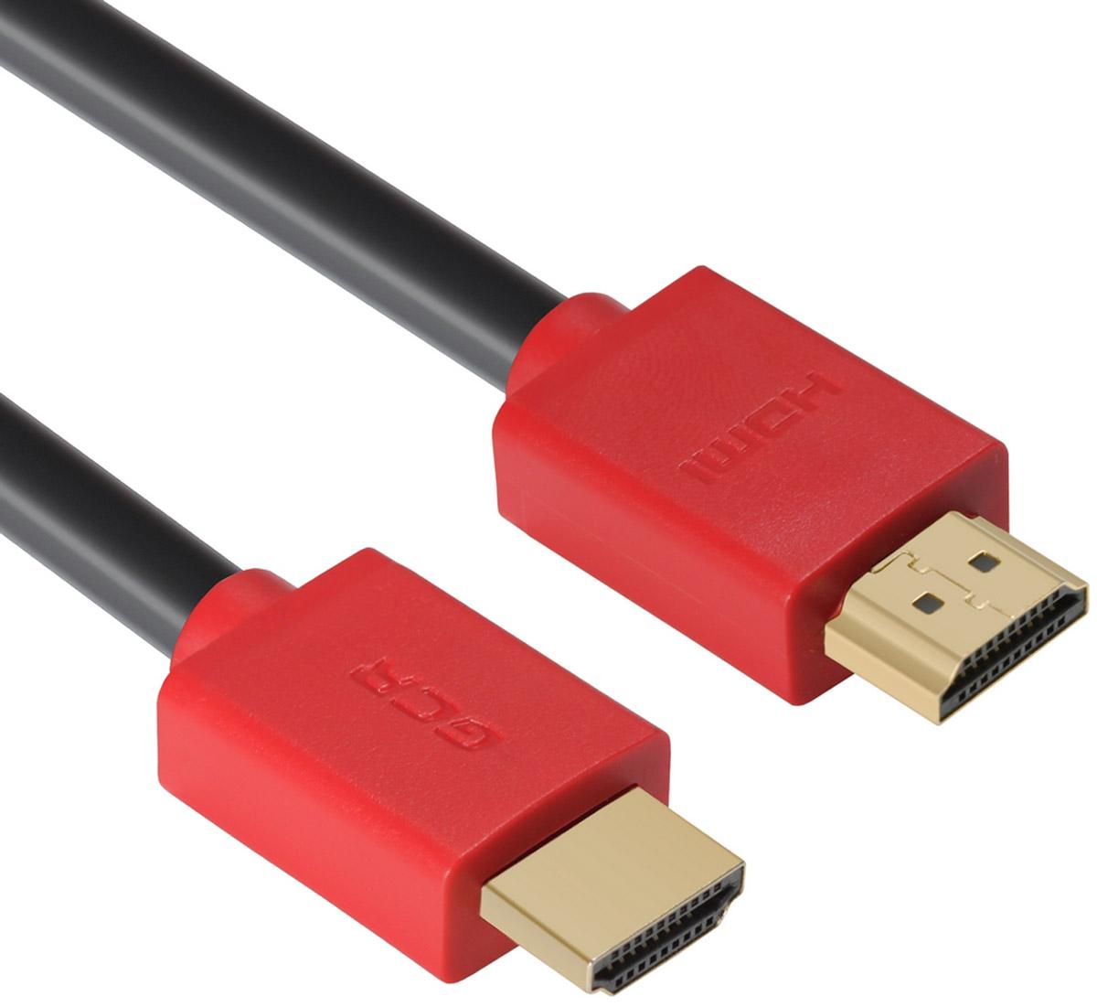 Greenconnect Russia GCR-HM451, Black Red кабель HDMI v 2.0 (0,5 м)GCR-HM451-0.5mКабель HDMI v 2.0 Greenconnect Russia GCR-HM451 - отличное решение для подключения компьютера, игровых консолей, DVD и Blu-ray плееров, аудио-ресиверов к телевизору или дополнительному монитору. Кабель HDMI поддерживает как стандартные, так и высокие разрешения самых современных моделей телевизоров.Кабель оснащен двунаправленным каналом для передачи сетевых данных, который подходит для использования IP-приложениями. Канал Ethernet позволяет нескольким устройствам работать в сети Ethernet без необходимости подключения дополнительных проводов, а также напрямую обмениваться контентом. Наличие обратного канала аудио устраняет необходимость в отдельном проводе для передачи звука в ресивер с телевизора или другого устройства, которое является одновременно источником аудио и видео.