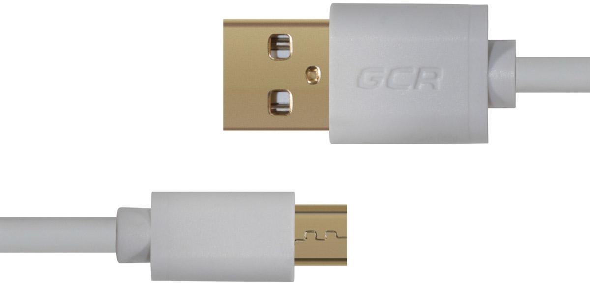 Greenconnect Russia GCR-UA10MCB3-AA2SG, White кабель microUSB-USB (0,5 м)GCR-UA10MCB3-AA2SG-0.5mКабель Greenconnect Russia GCR-UA10MCB3-AA2SG позволяет подключать мобильные устройства, которые имеют разъем microUSB к USB разъему компьютера. Подходит для повседневных задач, таких как синхронизация данных и передача файлов. Экранирование кабеля позволяет защитить сигнал при передаче от влияния внешних полей, способных создать помехи.
