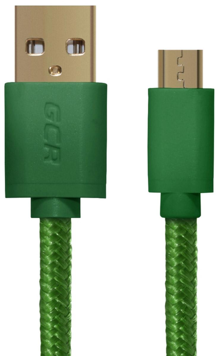 Greenconnect Russia GCR-UA11MCB5-BB2SG, Green кабель microUSB-USB (0,3 м)GCR-UA11MCB5-BB2SG-0.3mКабель Greenconnect Russia GCR-UA11MCB5-BB2SG позволяет подключать мобильные устройства, которые имеют разъем microUSB к USB разъему компьютера. Подходит для повседневных задач, таких как синхронизация данных и передача файлов. Экранирование кабеля позволяет защитить сигнал при передаче от влияния внешних полей, способных создать помехи.