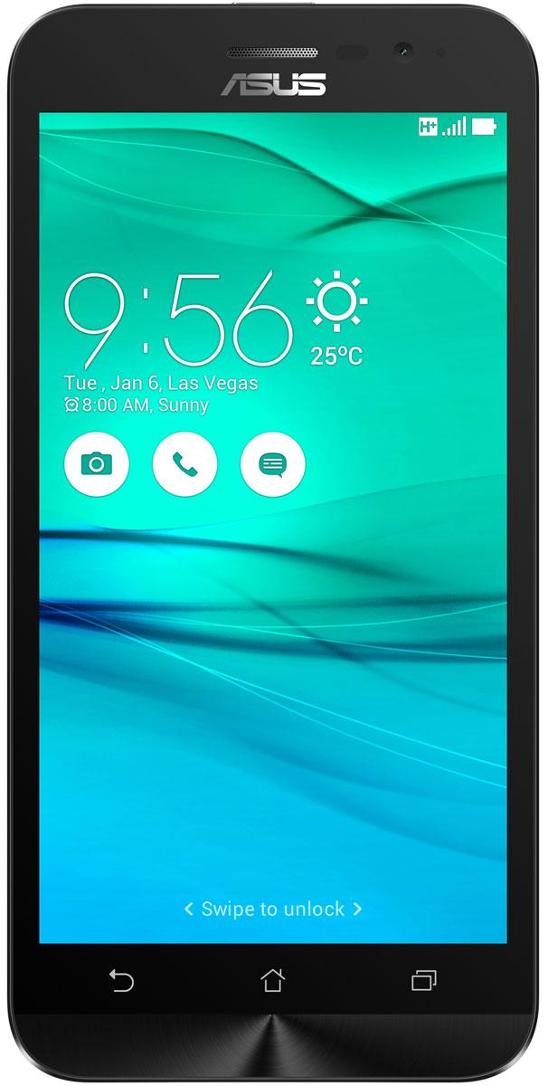 ASUS ZenFone Go ZB500KG, White (90AX00B2-M00140)90AX00B2-M00140Поддержка двух SIM-карт, четкое изображение, интуитивно понятный пользовательский интерфейс - все это вы найдете в новом смартфоне Asus ZenFone Go ZB500KG. Линейка мобильных продуктов Asus, разрабатываемых под общей философией Zen, - это устройства, которыми приятно пользоваться. Сочетая в себе широкую функциональность и великолепный дизайн, они идеально подходят для современного, мобильного стиля жизни. ZenFone Go выполнен в эргономичном корпусе, который удобно ложится в ладонь. Оригинальным и весьма удобным решением в его дизайне является расположенная на задней панели корпуса кнопка, с помощью которой можно делать фотоснимки, изменять громкость звука и т.д. Подчеркните свою индивидуальность, выбрав ZenFone Go своего любимого цвета из нескольких доступных вариантов. А затем установите соответствующую визуальную тему пользовательского интерфейса Asus ZenUI. В ZenFone Go реализована эксклюзивная технология PixelMaster,...