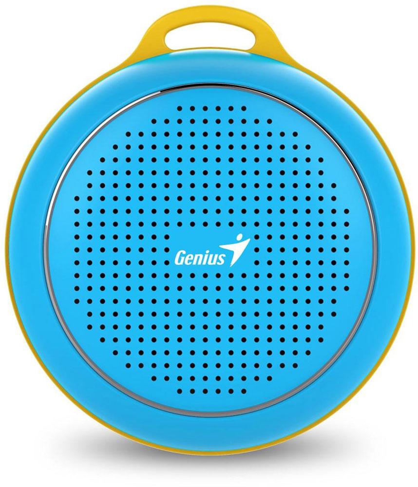 Genius SP-906BT, Blue портативная колонка31731072101Невероятная громкость и глубокие басы благодаря усовершенствованной конструкции. Колонка Genius SP-906BT дает заряд отличного настроения. Пять ярких цветовых исполнений. Размер примерно с хоккейную шайбу. Интеллектуальная технология непрерывного звука: чистые высокие и низкие частоты без пропусков. Технология пространственного звучания позволяет оказаться в центре происходящего. Благодаря встроенному усилителю громкий звук колонки SP-906BT проникает в самое сердце. Прочный и гладкий карабин для подвешивания выполнен из стали и алюминия. Он устойчив к ржавчине и рассчитан на долгую службу, а силиконовый ободок обеспечивает одновременно гибкость и прочность. Сочетание жесткости и мягкости, универсальная колонка Genius SP-906BT! Благодаря передовой защите цепей и технологии Bluetooth 4.1 соединение устанавливается еще быстрее (стандартное расстояние для беспроводной работы: 10 м). Колонка SP-906BT поддерживает все продукты с технологией...