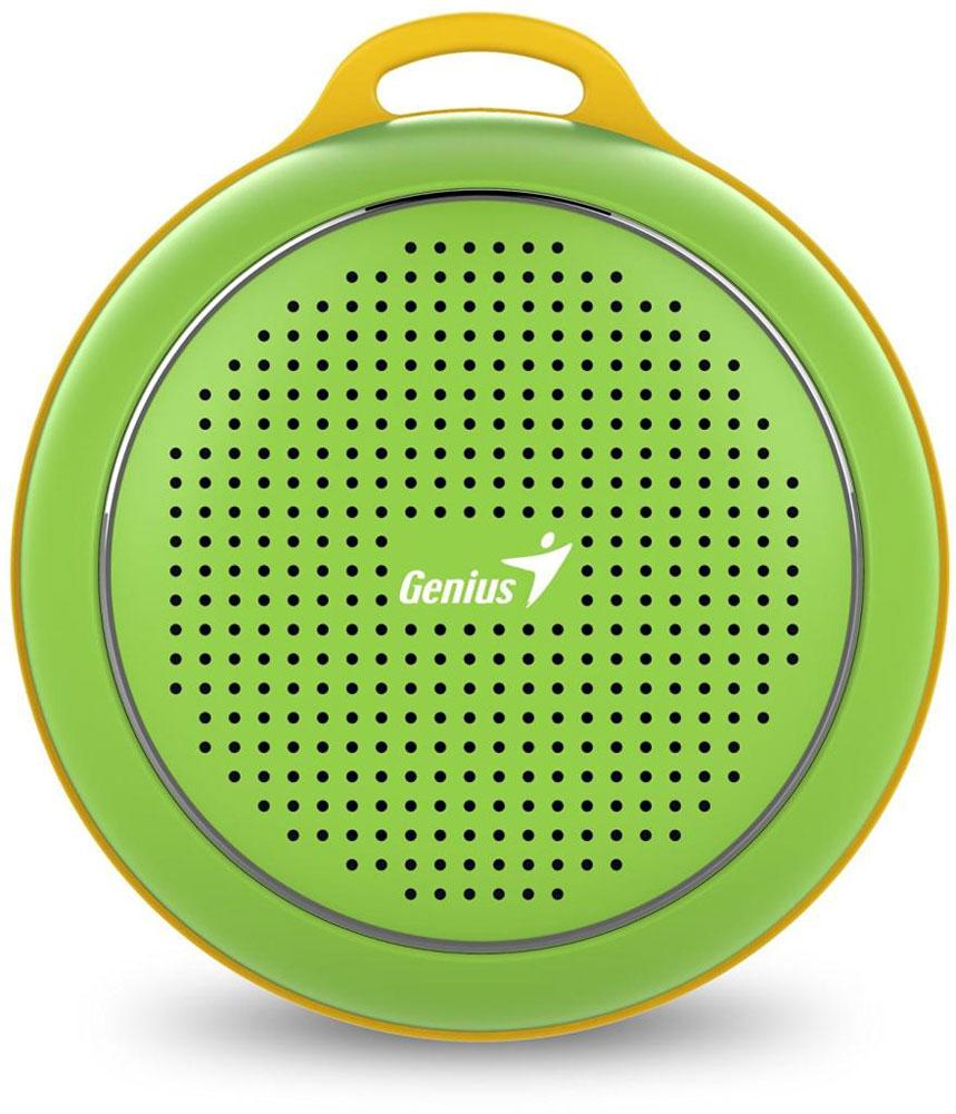 Genius SP-906BT, Green портативная колонка31731072102Невероятная громкость и глубокие басы благодаря усовершенствованной конструкции. Колонка Genius SP-906BT дает заряд отличного настроения. Пять ярких цветовых исполнений. Размер примерно с хоккейную шайбу. Интеллектуальная технология непрерывного звука: чистые высокие и низкие частоты без пропусков. Технология пространственного звучания позволяет оказаться в центре происходящего. Благодаря встроенному усилителю громкий звук колонки SP-906BT проникает в самое сердце. Прочный и гладкий карабин для подвешивания выполнен из стали и алюминия. Он устойчив к ржавчине и рассчитан на долгую службу, а силиконовый ободок обеспечивает одновременно гибкость и прочность. Сочетание жесткости и мягкости, универсальная колонка Genius SP-906BT! Благодаря передовой защите цепей и технологии Bluetooth 4.1 соединение устанавливается еще быстрее (стандартное расстояние для беспроводной работы: 10 м). Колонка SP-906BT поддерживает все продукты с технологией...