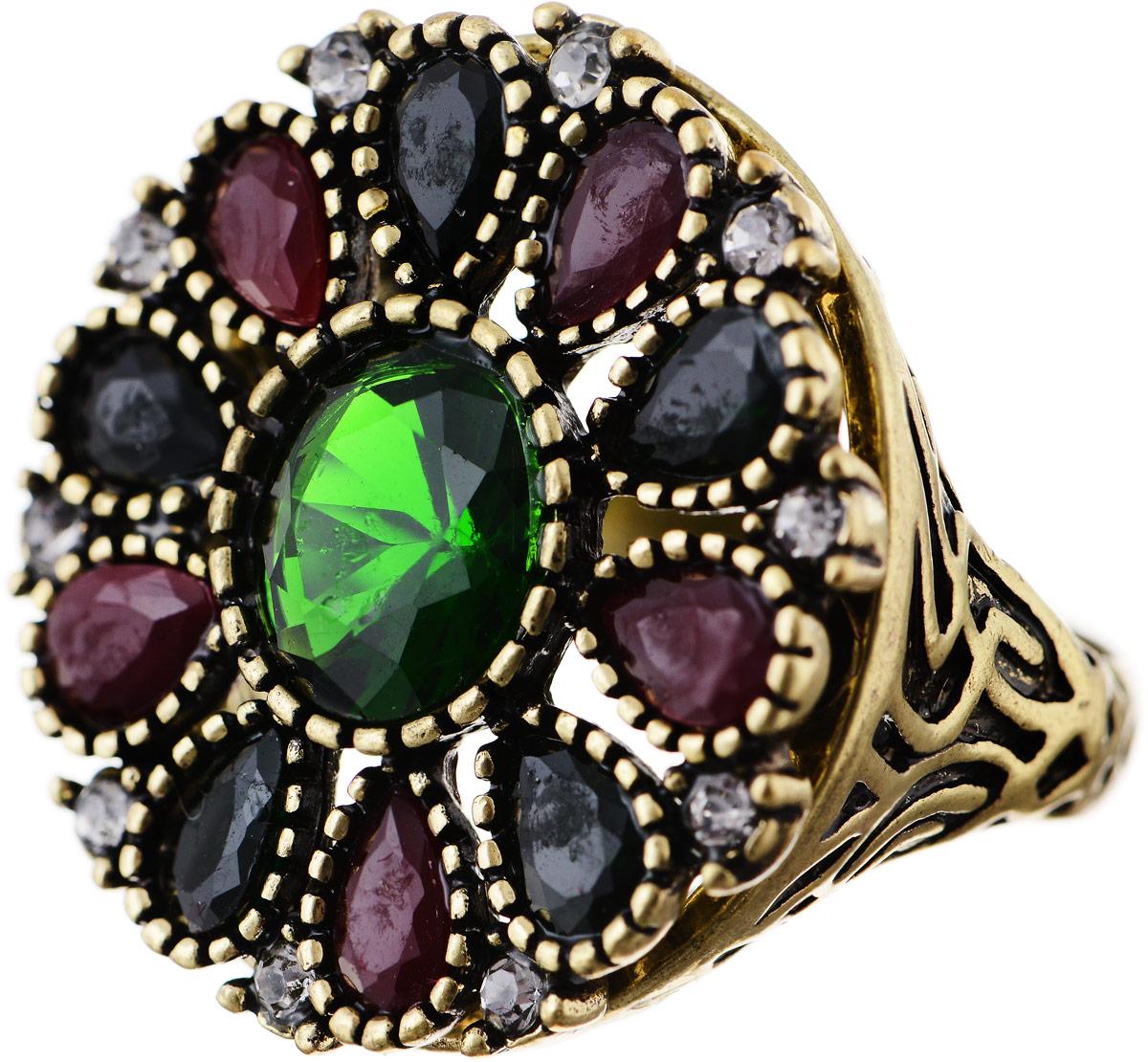 Кольцо Bradex Аннабель, цвет: золотой, зеленый, бордовый. AS 0017. Размер 19AS 0018Кольцо Bradex Аннабель выполнено из металлического сплава. Декоративный элемент выполнен в круглой форме и украшен вставками из искусственных камней и страз.