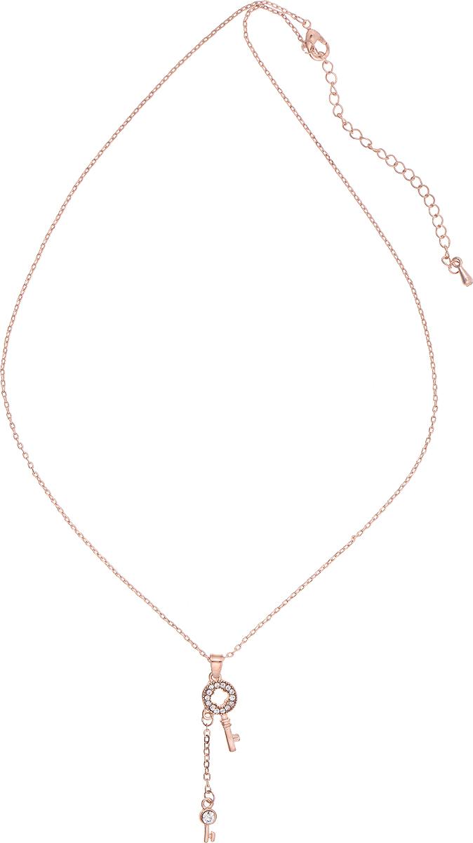 Кулон Bradex Золотой ключик, цвет: золотой. AS 0013AS 0013Кулон Bradex Золотой ключик изготовлен из металлического сплава и дополнен декоративным элементом в виде двух ключиков, оформленных вставками из страз. Изделие застегивается на замок-карабин, а длина регулируется с помощью звеньев.