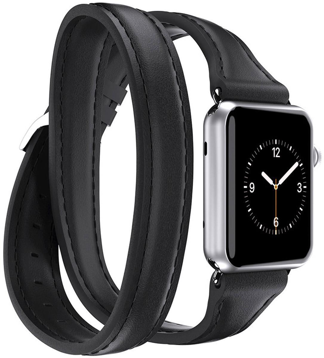 Griffin Uptown Double-Wrap Band, Black ремешок для Apple Watch (38 мм)