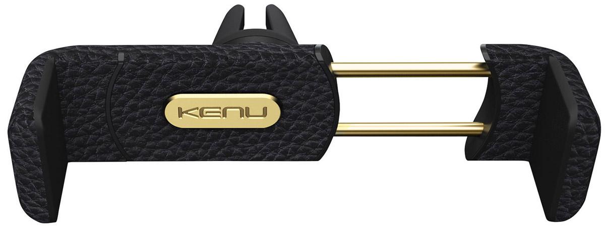 Kenu AF3-KK-NA Airframe + Portable Car Mount Leather Edition, Black автомобильный держатель для устройств диагональю до 6AF3-KK-NAKenu AF3-KK-NA Airframe - надежное и эргономичное крепление для мобильного устройства с диагональю до 6 на вентиляционную решетку вашего автомобиля.