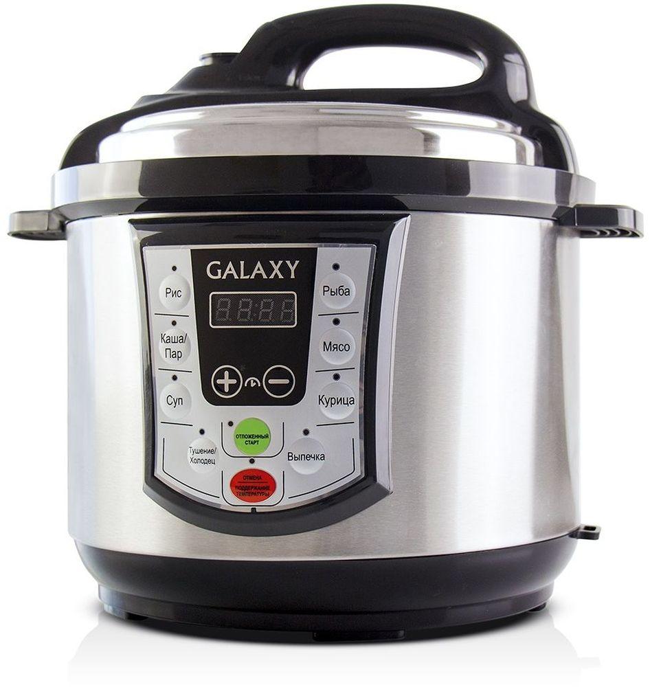 Galaxy GL 2651 мультиварка-скороварка4630003366658Простота, удобство в обращении и одновременная многофункциональность мультиварки-скороварки Galaxy GL 2651 позволят вам наслаждаться процессом приготовления пищи, не затрачивая много времени и сил! Мультиварка-скороварка Galaxy GL 2651 готовит под давлением, что значительно сокращает время приготовления и максимально сохраняет натуральный вкус, цвет и полезные свойства продуктов. Емкость для приготовления на пару выполнена из прочной нержавеющей стали, которая не выделяет в пищу вредных химических соединений и не деформируется под воздействием давления.