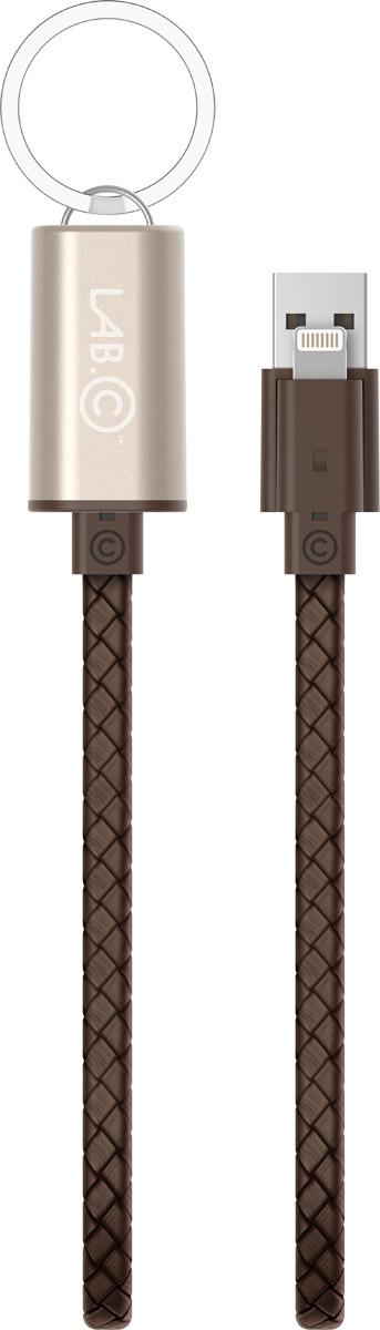 LAB.C Lightning Cable Key Chain Apple 8pin, Rose Gold Brown кабель USB-Lightning (0,25 м)LABC-504-GD