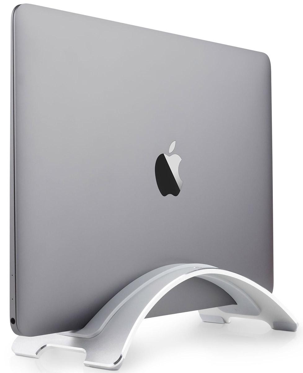 Twelve South BookArc подставка для Apple MacBook12-1505Twelve South BookArc — элегантная, полностью алюминиевая подставка, созданная специально для MacBook. BookArc удерживает MacBook вертикально, освобождая место на вашем рабочем столе. Установите MacBook в эту подставку дуговой формы и подключите внешний монитор, клавиатуру и мышь, чтобы создать рабочее место в стиле настольных систем. Три мягких сменных вкладыша из силикона обеспечивают совместимость BookArc с MacBook (12-дюймов), MacBook Air, MacBook Pro Retina (2012-2015) и MacBook Pro (2016).