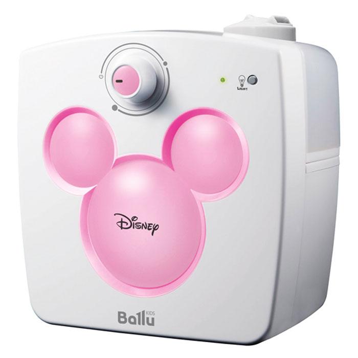 Ballu UHB-240 Disney, Pink ультразвуковой увлажнитель воздухаНС-1054834Увлажнитель воздуха Ballu UHB-240 Disney предназначен для поддержания комфортного уровня влажности в детской комнате. В отопительный период влажность воздуха в помещениях существенно ниже нормы (40-60%). Сухой воздух способствует распространению вирусных заболеваний, приводит к повышению утомляемости, сушит слизистые и может стать причиной рези в глазах и головной боли. Специально для детей разработана уникальная серия увлажнителей Ballu Kids, включающая в себя приборы с образами популярных героев анимационных фильмов. Совместно с художниками и дизайнерами Disney была создана модель Ballu UHB-240, которая сочетает в себе функцию увлажнителя и светильника - ночника. В приборе предусмотрена возможность регулировки скорости увлажнения, а поворотный 2-х струйный распылитель позволит направить поток воздуха в нужную сторону. Прибор автоматически остановит работу при минимальном уровне воды, а прорезиненные ножки исключат его скольжение по любым...