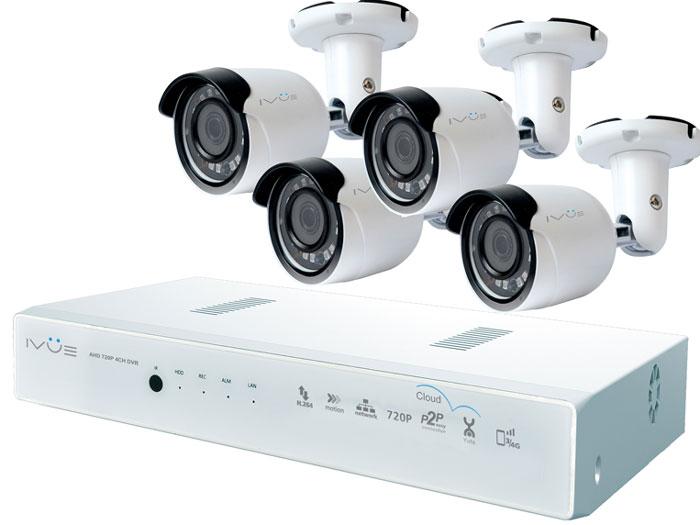 iVue D5008-РРС-B4 система видеонаблюденияD5008-РРС-B4Комплект видеонаблюдения iVue D5008-РРС-B4 - это профессиональный набор систем охранного видеонаблюдения за вашим бизнесом, домом или дачей. Комплект включает в себя видеорегистратор AHD + четыре уличные видеокамеры 1 Mпикс (720P), которые прекрасно подойдут к интерьеру любого помещения, блок питания, соединительный кабель и все необходимые аксессуары. AHD - самая современная технология кодирования и передачи видеоизображения по коаксиальному кабелю! Технология AHD позволяет передавать изображение на расстояние до 500 метров без потери качества изображения! Наблюдать вы можете из любой точки мира через интернет с помощью компьютера, планшета или смартфона. Простота подключения обеспечивается облачной технологией P2P. При необходимости вы можете разнести камеры на расстояние до 500 метров (кабель вы можете приобрести отдельно). Жесткий диск для этого набора приобретается отдельно и может иметь размер до 4 ТБ, что позволит вам ...
