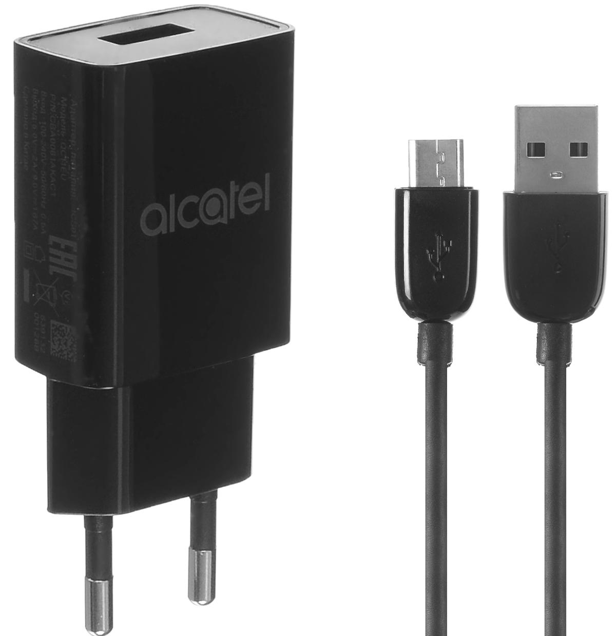 Alcatel QC11-3AALRU1 QuickCharger, Black сетевое зарядное устройствоQC11-3AALRU1Сетевое зарядное устройство Alcatel QC11-3AALRU1 предназначено для зарядки и питания мобильного устройства от бытовой сети переменного тока. Вы можете заряжать любые устройства, совместимые с выходным током зарядки до 2А и напряжением 5В.
