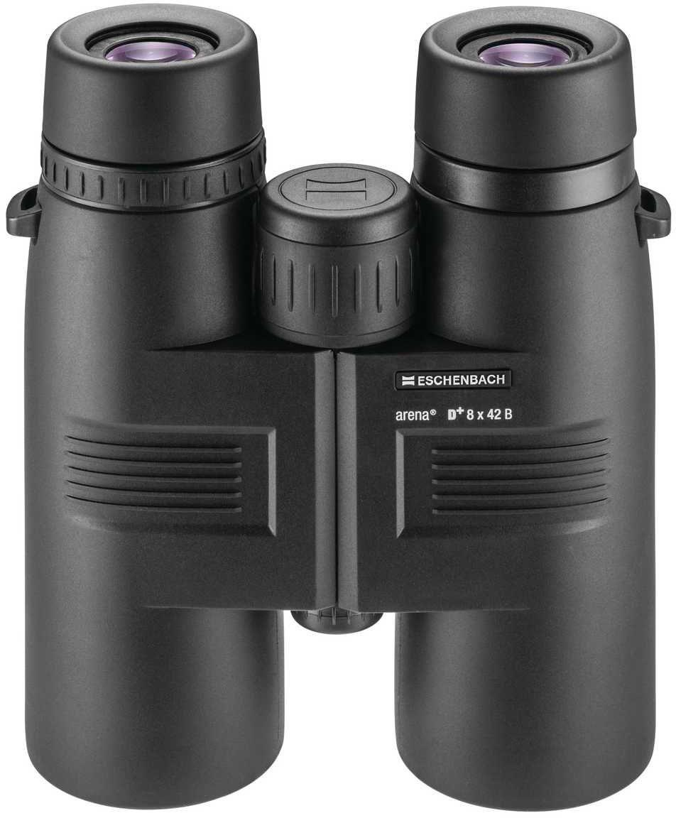 Бинокль Eschenbach Arena D+ 8 х 42 B4254842Незаменимый прибор для начинающих наблюдателей за птицами и дикой природой. Яркое, точное воспроизведение за счет высококачественных призм BaK-4, светопропускание у которых выше, благодаря особому покрытию из серебра. Кроме того, снижено вредное воздействие УФ-излучения на глаза.