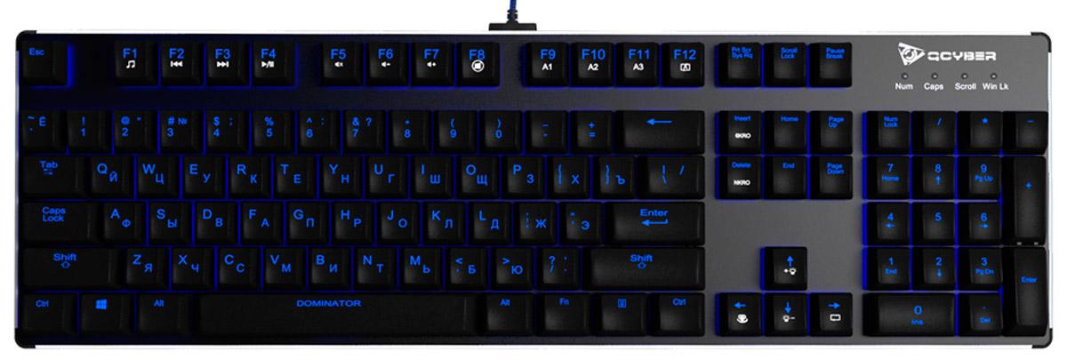Qcyber Dominator, Black игровая клавиатураQC-03-003DV01Представляем вашему вниманию новинку – механическая игровая клавиатура Qcyber Dominator. С данной клавиатурой любой момент, в любой игре будет под вашим полным контролем. Современные переключатели Kailh Blue, алюминиевый корпус – все в этой клавиатуре сделано для того, чтобы она прослужила вам долгое время и помогала вам достигать небывалых ранее высот! В клавиатуре Qcyber Dominator стоят переключатели Kailh Blue. С данными переключателями вы сможете комфортно играть, всегда контролировать ситуацию на арене, и быстро отдавать текстовые команды игрокам. Имеют четкую, отличную отдачу и свойственный Blue-switch щелчок. Ход до срабатывания составляет 2 мм, а полный ход 4 мм, сила срабатывания – 60 г. Производитель Kailh - Kaihua постоянно усовершенствуют свои технологии производства. Переключатели, которые мы используем в клавиатуре Qcyber Dominator имеют минимальный ресурс в 55 млн нажатий минимум и выполнены из серебра. Теперь вы будете точно знать, что с...