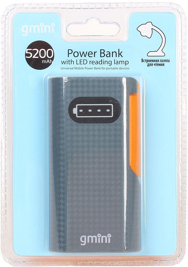 Gmini mPower GM-PB052L внешний аккумулятор (5200 мАч) + встроенная LED-лампа
