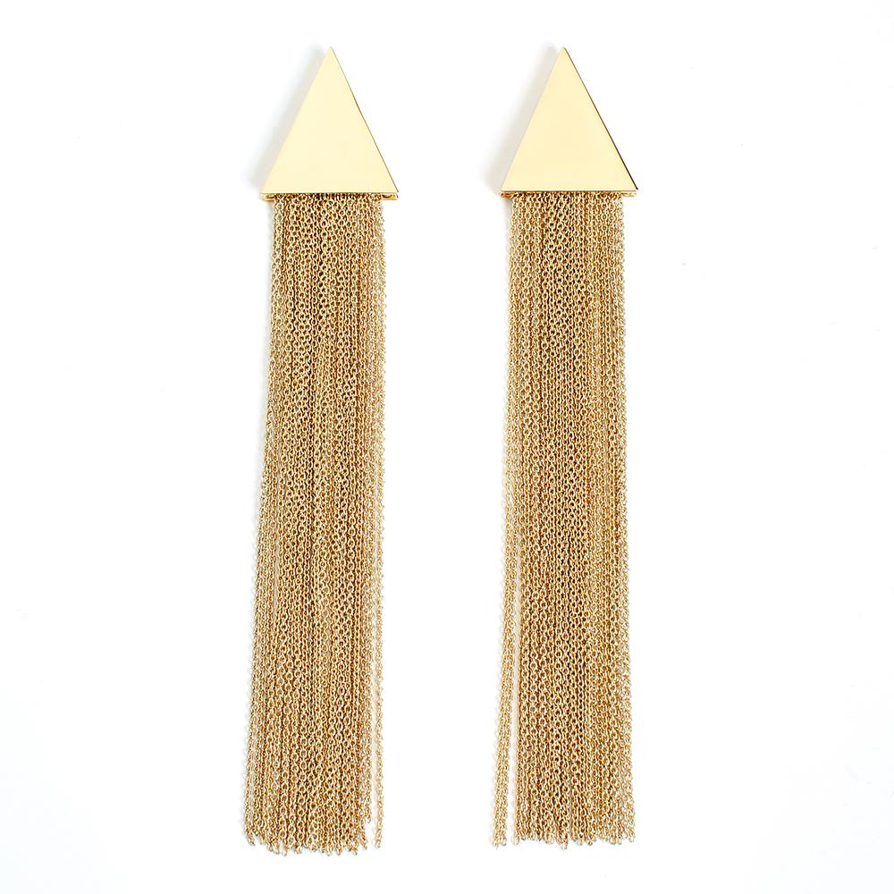 Серьги Selena, цвет: золотистый. 20091930Серьги с подвескамиСтильные серьги Selena выполнены из латуни с гальваническим покрытием. Серьги оформлены оригинальными декоративными подвесками. Такие серьги будут ярким дополнением вашего образа.