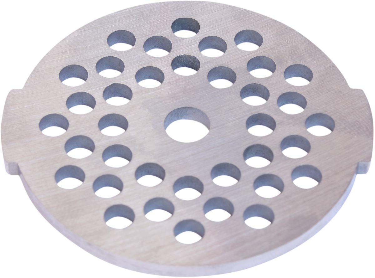 Euro Kitchen EUR-GR-4,7 Moulinex HV2 решетка для мясорубкиEUR-GR-4,7 Moulinex HV2Решетка Euro Kitchen EUR-GR-4,7 предназначена для работы с электрическими мясорубками марки Moulinex HV2. Она с легкостью заменит фирменную деталь, не уступив ей по качеству и сроку службы. Высокая производительность и долгий срок службы современных электрических и ручных мясорубок зависят, в первую очередь, от режущих механизмов и их выработки. Своевременная профилактика и замена режущих и вспомогательных элементов способствуют уменьшению нагрузки на узлы и другие механизмы, гарантируя долгую и качественную работу вашей мясорубки. Диаметр отверстий в решетке: 4,7 мм