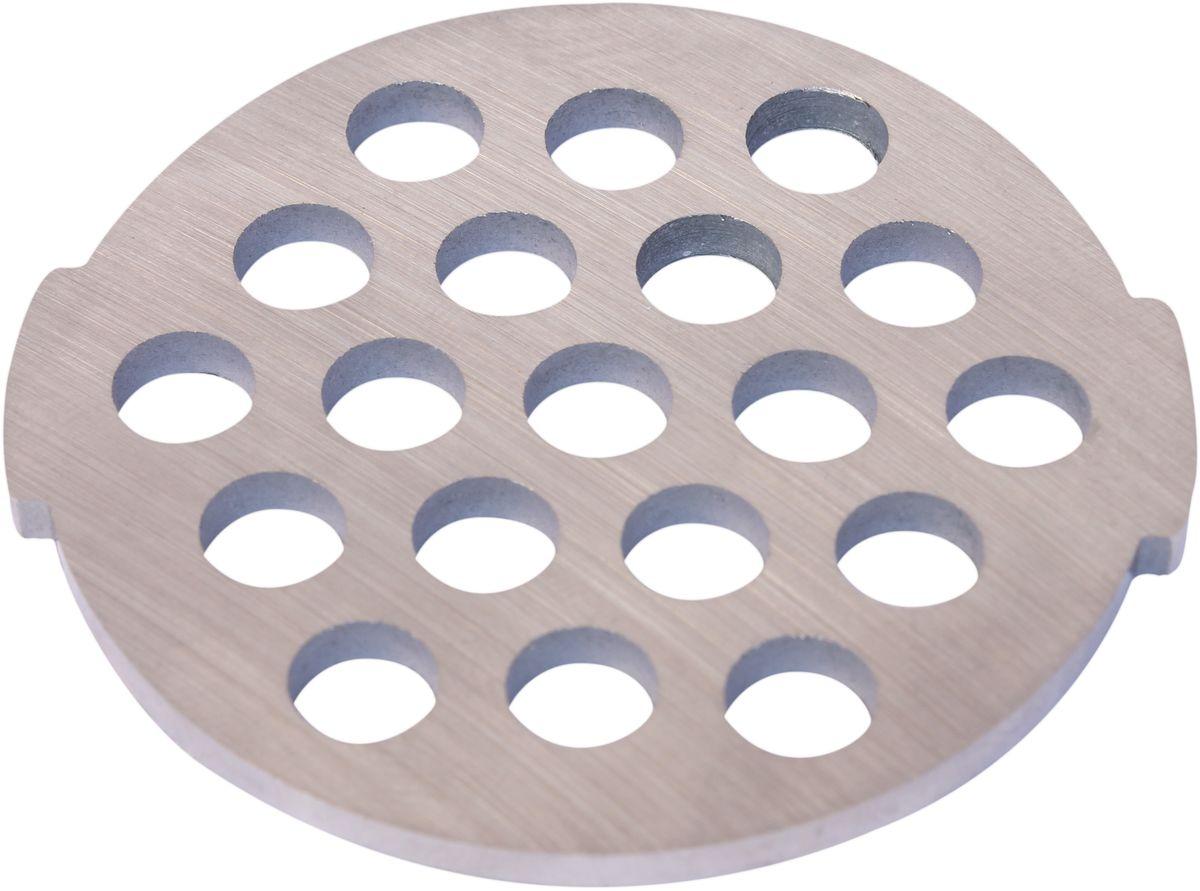 Euro Kitchen EUR-GR-7 Moulinex HV2 решетка для мясорубкиEUR-GR-7 Moulinex HV2Решетка Euro Kitchen EUR-GR-7 предназначена для работы с электрическими мясорубками марки Moulinex HV2. Она с легкостью заменит фирменную деталь, не уступив ей по качеству и сроку службы. Высокая производительность и долгий срок службы современных электрических и ручных мясорубок зависят, в первую очередь, от режущих механизмов и их выработки. Своевременная профилактика и замена режущих и вспомогательных элементов способствуют уменьшению нагрузки на узлы и другие механизмы, гарантируя долгую и качественную работу вашей мясорубки. Диаметр отверстий в решетке: 7 мм
