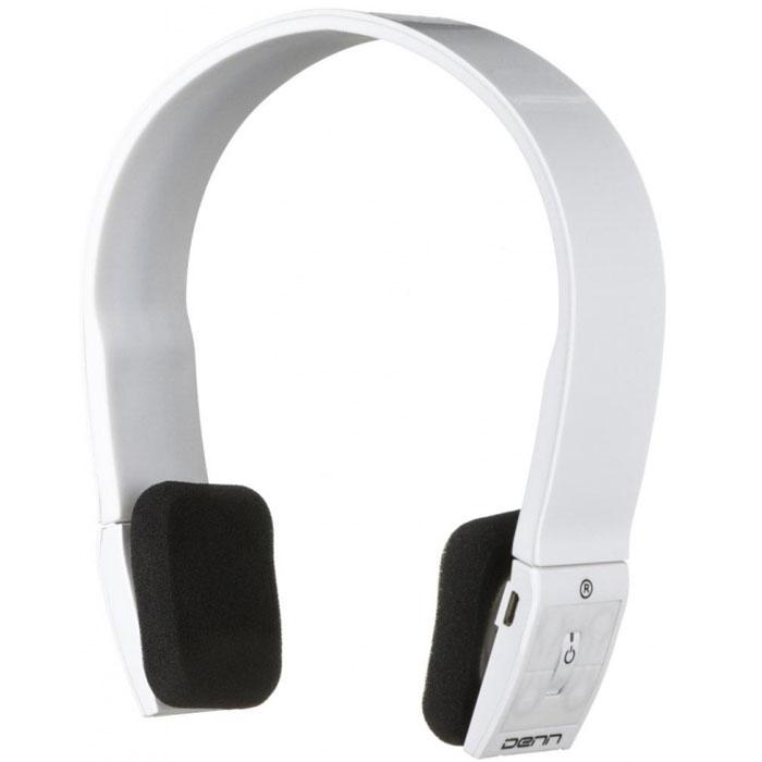 Denn DHB112, White Bluetooth-гарнитураDHB112Bluetooth-гарнитура Denn DHB112 имеет минималистичный дизайн, благодаря которому она идеально подходит к любому стилю одежды. Динамики гаджета регулируются по высоте в большом диапазоне, что делает его удобным для каждого пользователя.Функциональные клавиши располагаются на динамиках наушников.Оголовье создано из эластичного пластика, поэтому не создается лишнего давления и отсутствует дискомфорт при длительном ношении.