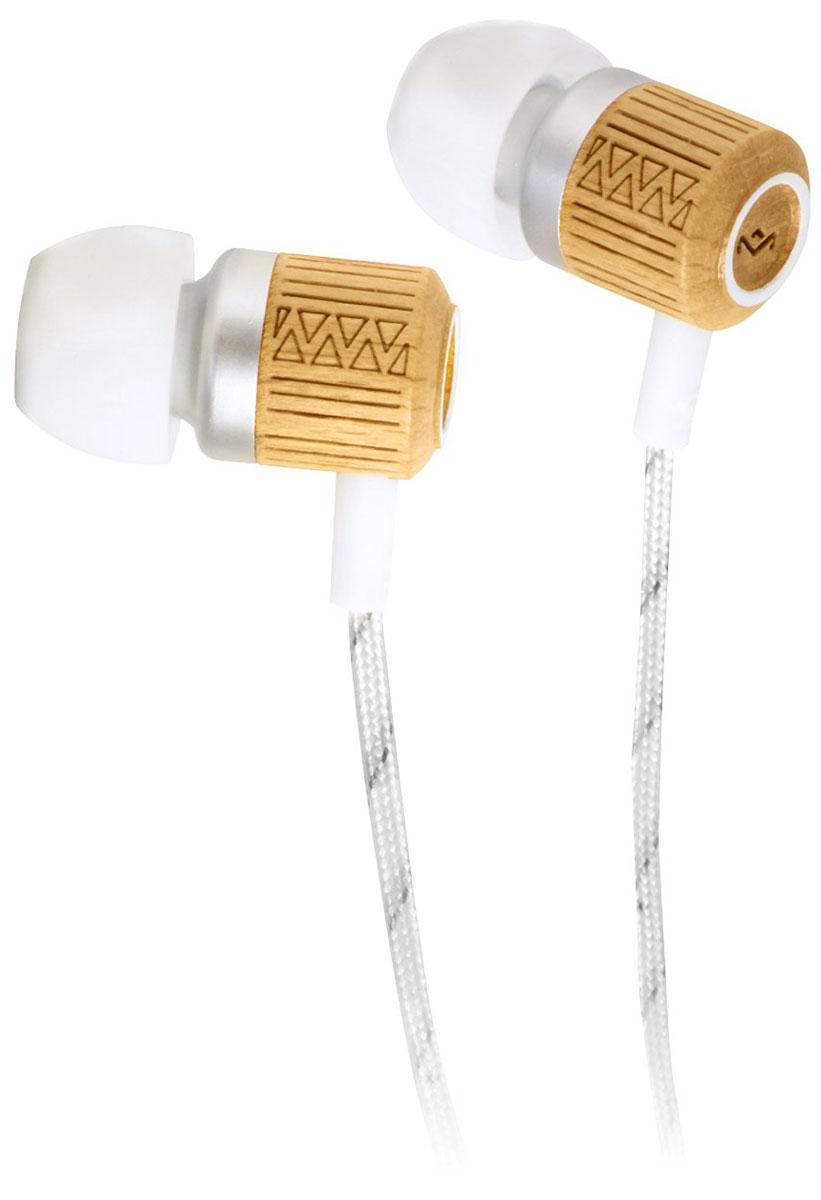 House of Marley Chant Drift, White наушникиEM-JE051-DRКорпус наушников House of Marley Chant выполнен из бамбука, сертифицированного FSC. Это уникальное сочетание алюминия и натурального дерева с лазерной орнаментной гравировкой. Фирменный звук от Marley, отличная шумоизоляция позволяют насладиться полноценным живым звучанием. Тканевая оплетка повышает надежность кабеля, помогает избежать спутывания и снижает микрофонный шум.