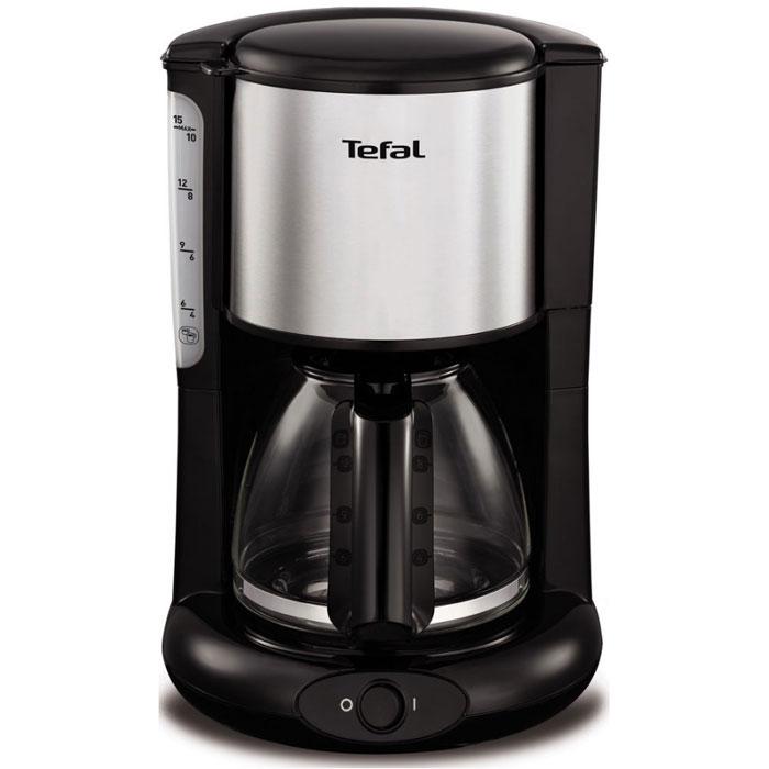 Tefal CM361838 кофеваркаCM361838Если вы любите пить горячий свежесваренный кофе, то вам непременно стоит обратить внимание на современную кофеварку Tefal CM361838. Этот прибор обладает мощностью в 1000 Вт, что позволяет ему в считанные мгновения приготовить превосходный кофе.Наслаждайтесь непревзойденным вкусом своего любимого напитка ежедневно! Простое управление управление капельной кофеваркой Tefal не доставит никаких трудностей. Готовый кофе поступает в специальную емкость, объем которого достигает 1,25 литра. Поэтому кофеварку можно использовать даже в большой семье.Tefal CM361838 отличается невероятной легкостью в обслуживании. Она оснащена специальной противокапельной системой, поэтому рабочая поверхность или скатерть на столе всегда будут чистыми. Кроме того, этот прибор обладает наглядным индикатором уровня воды, что позволяет вам контролировать работу прибора. Благодаря своим компактным размерам и черному цвету корпуса, изготовленного из качественных материалов, этот прибор гармонично дополнит интерьер любой современной кухни. Теперь вы сможете наслаждаться своими любимыми напитками в любое время. Ощутите неповторимый вкус и непревзойденное качество кофе с новой кофеваркой от Tefal!