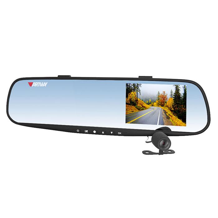 Artway AV-601, Black видеорегистратор-зеркало artway av 507 автомобильный видеорегистратор black