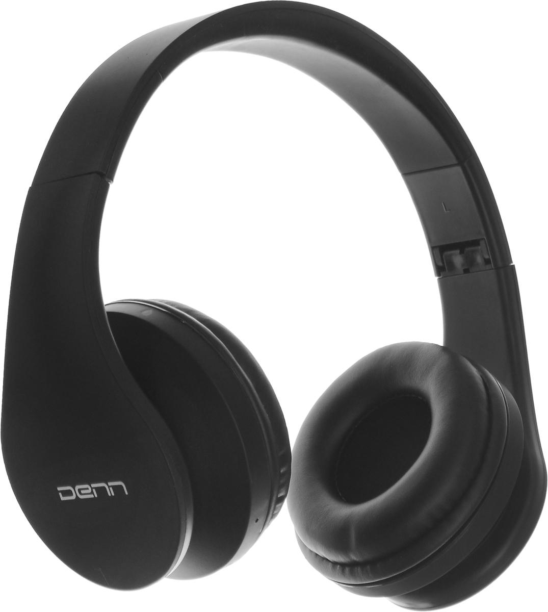 Denn DHB405, Black Bluetooth-гарнитураDHB405Denn DHB405 - полноразмерная Bluetooth-гарнитура с FM радио и МР3-плеером. Динамики наушников оснащены излучателями большого диаметра и мощными магнитами. Они могут воспроизводить без малейших помех звуки любой частоты.