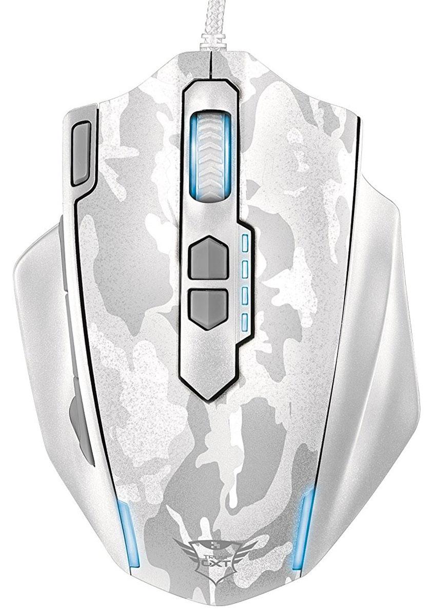 Trust GXT 155, White игровая мышь20852Многофункциональная игровая мышь премиум-класса Trust GXT 155 с изменяемым весом и внутренней памятью для профилей настройки. Мышь имеет мощную аппаратную начинку и эргономичный корпус. Благодаря 5 дополнительным программируемым кнопкам под большой палец идеально подходит для игр в жанре MOBA. Память устройства позволяет хранить до пяти игровых профилей. 8 металлических грузиков (весом 2 г каждый) помогут подобрать оптимальный вес мыши. В комплект входит расширенная версия ПО для программирования кнопок и создания макросов. Частота опроса: 125/250/500/1000 Гц