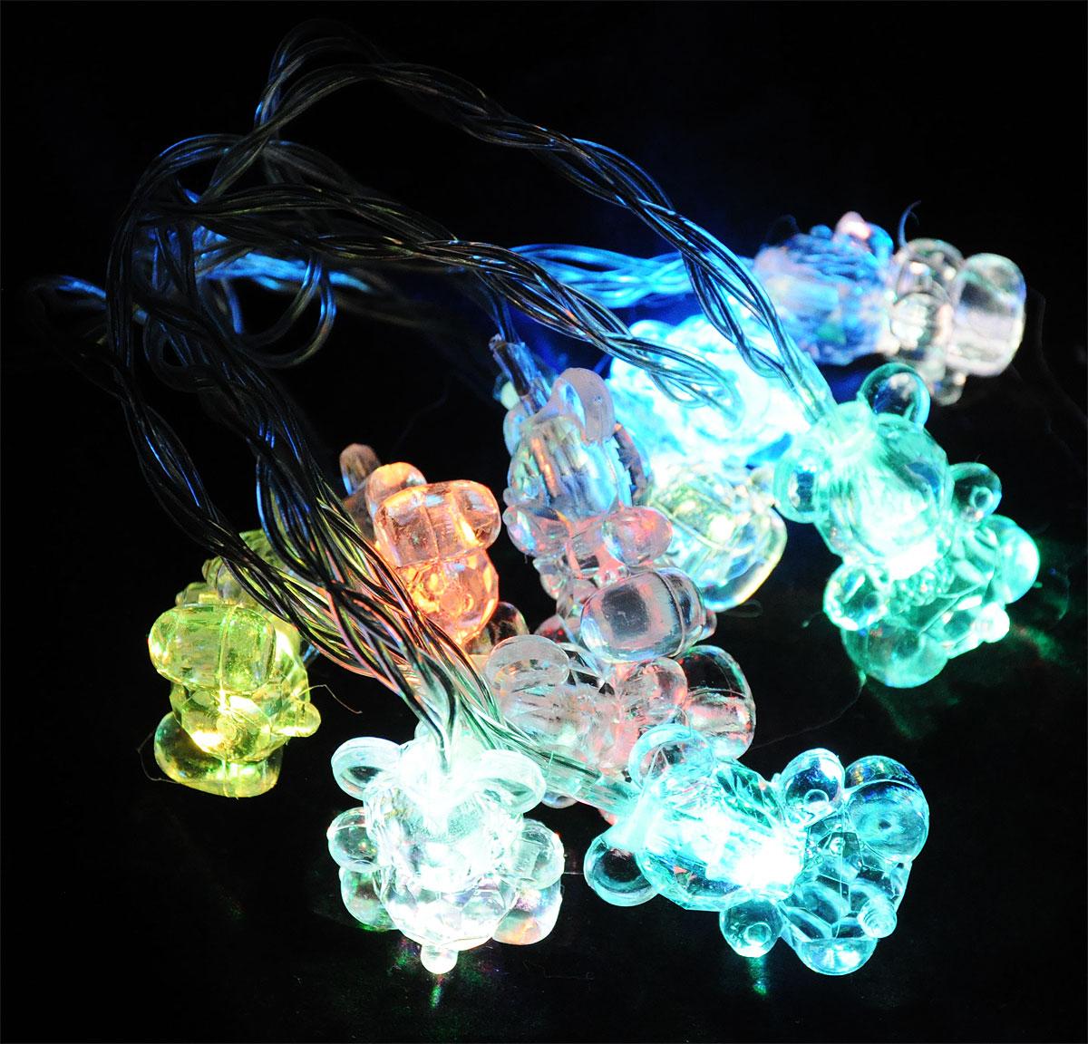 "Электрогирлянда B&H ""Мишки"", 10 RGB светодиодов, 1,35 м BH0423_мишки"