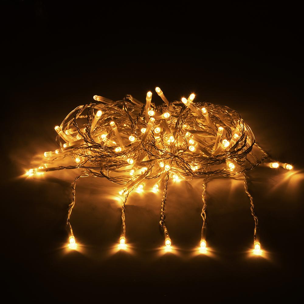 """Гирлянда-конструктор электрическая Vegas """"Занавес"""", 192 лампы, длина 4 м, свет: желтый. 55028"""