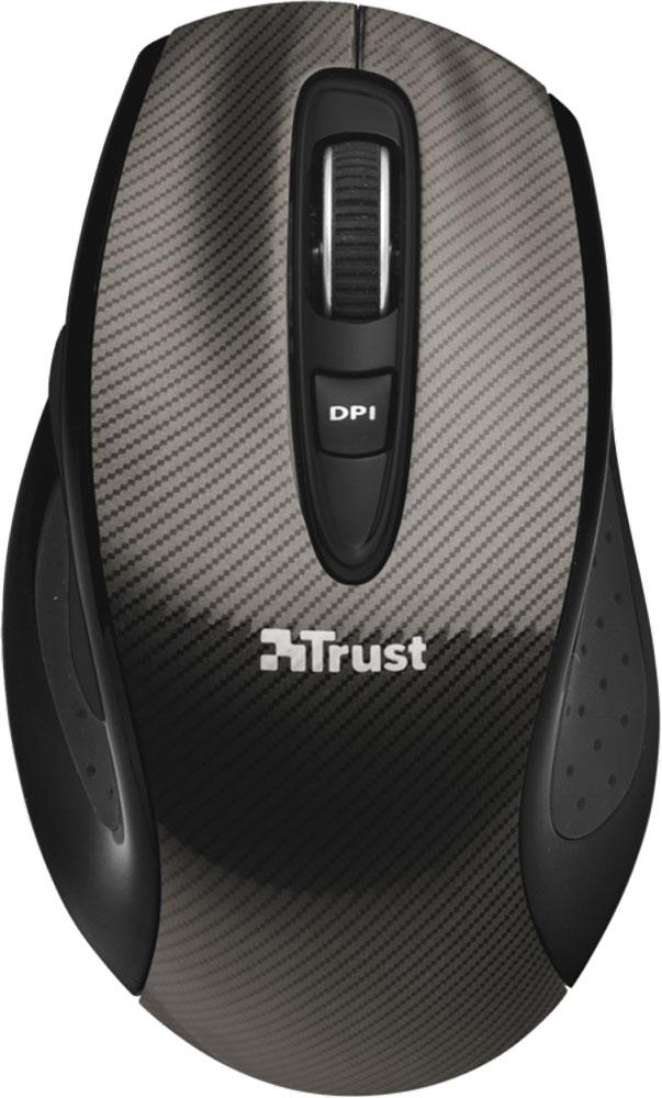 Trust Kerb Wireless Laser Mouse, Black мышь20784Стильная беспроводная мышь Trust Kerb обеспечивает максимальный комфорт и возможность работы практически на любой поверхности благодаря лазерному сенсору. Эргономичный дизайн для оптимального захвата и максимального комфорта при ежедневном использовании. Качественный лазерный сенсор имеет две настройки разрешения (800/1600 dpi) с возможностью изменения на лету. При стандартном использовании для офисных задач срок службы батареек составляет 1 год.