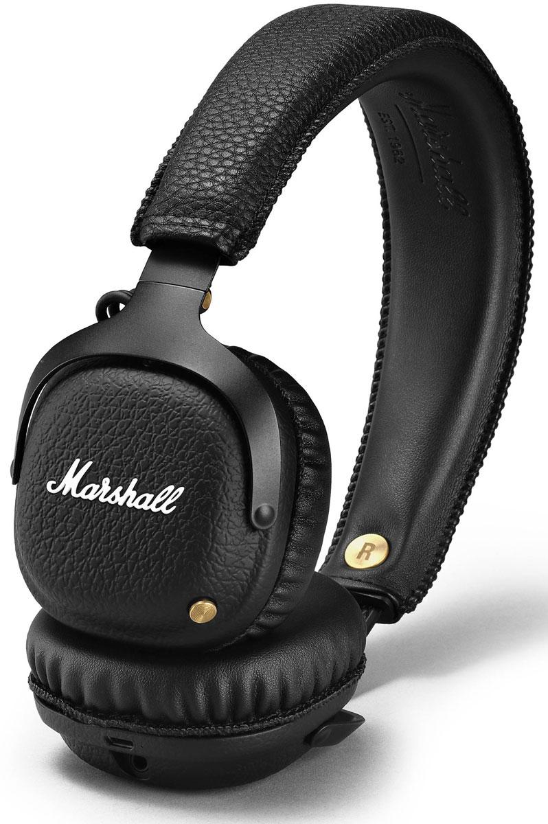 Marshall Mid Bluetooth, Black беспроводные наушники15118903Беспроводные наушники Marshall Mid Bluetooth соединяют в себе свободу и комфорт. Легко подключитесь к воспроизводящему устройству по современному протоколу Bluetooth aptX и слушайте музыку в течение длительного времени (более 30 часов) без подзарядки. Подключайтесь к Marshall Mid Bluetooth без проводов по технологии aptX. Вы сможете не только проигрывать свои любимые песни в CD-качестве — кодек aptX минимизирует задержку синхронизации звука и видео, что позволяет смотреть фильмы без проблем с синхронизацией. Mid дарит вам свободу перемещения в радиусе 10 метров от источника сигнала. Специальные настроенные излучатели 40 мм идеально уравновешивают чистоту и насыщенность звука. Бронзовая кнопка на левой чаше не только нажимается, но и отклоняется в разных направлениях, позволяя управлять разными функциями — громкостью, воспроизведением, переключением песен и включением самой гарнитуры. При беспроводном прослушивании, 3,5 мм разъём становится выходом, в...