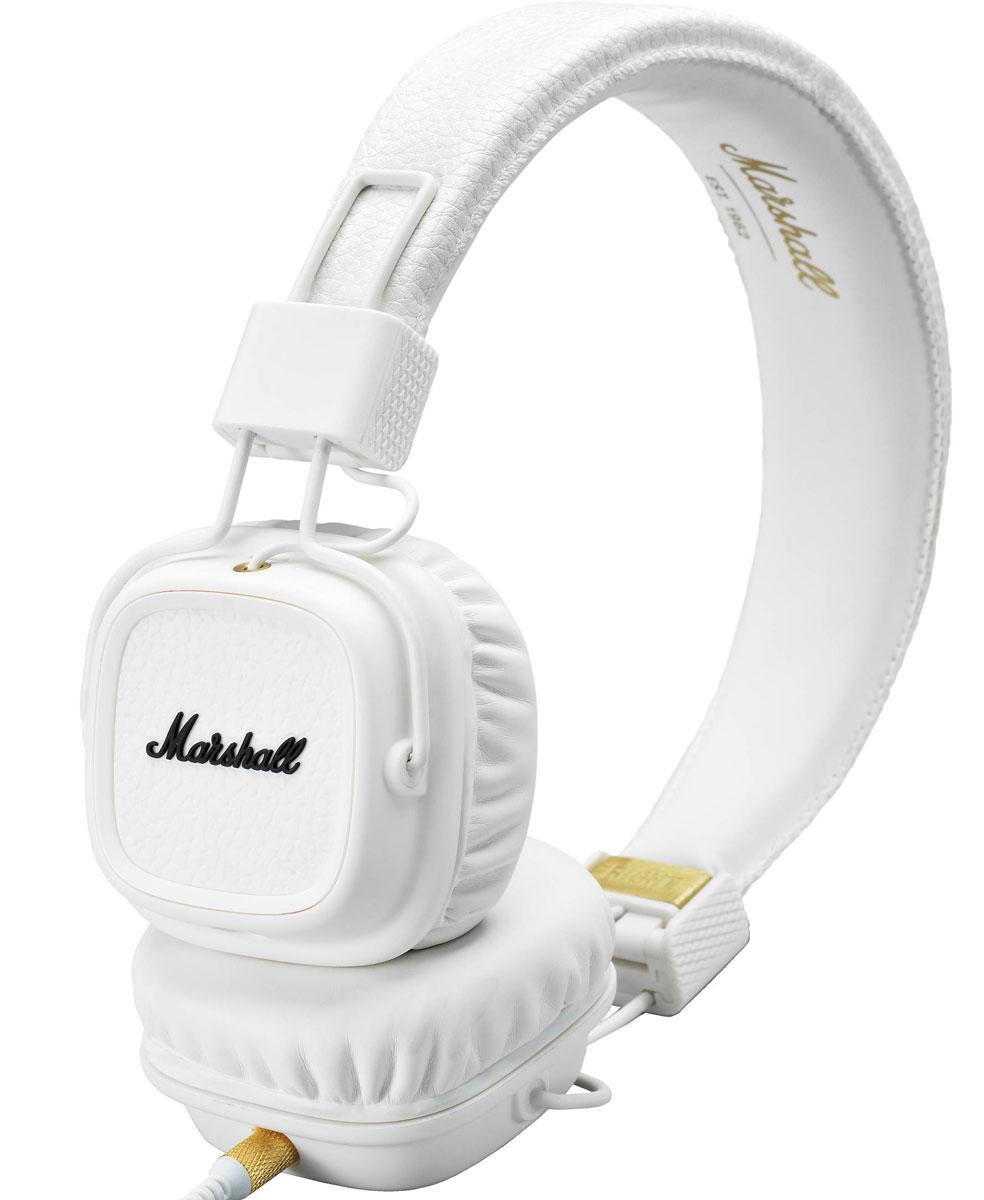 Marshall Major II Bluetooth, White наушники15118902Major II Bluetooth соединяют в себе свободу и комфорт, которые предоставляют беспроводные наушники, с более чем 50-летним опытом компании Marshall в создании высококлассного аудиооборудования. Легко подключитесь к воспроизводящему устройству по современному протоколу Bluetooth aptX и слушайте музыку в течение длительного времени (более 30 часов) без подзарядки. С этой версией Bluetooth вы не только можете прослушивать свои любимые композиции в CD-качестве, но и смотреть фильмы без проблем синхронизации аудио / видео. Возможно и альтернативное подключение к источнику звука - по комплектному проводу. Двусторонний кабель с обмоткой, оснащённый микрофоном и пультом управления, является полностью съёмным, он позволяет подключаться к гаджетам, имеющим выход 3,5 мм. Когда применяется беспроводное подключение, свободный разъём можно использовать, чтобы поделиться музыкой с другом. С помощью кнопки на чашке наушников вы можете управлять воспроизведением,...