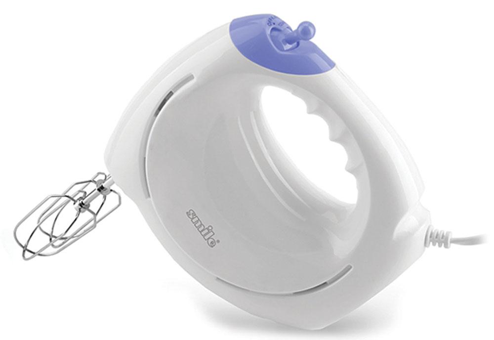 Smile HM 1734 миксерHM 1734Smile HM 1734 - практичный миксер для взбивания кремов и приготовления теста, что по достоинству сможет оценить любая хозяйка. Благодаря 7 скоростным режимам, вы можете получить именно тот результат, который вам необходим для приготовления. Модель также имеет кнопку для удобного извлечения насадок.