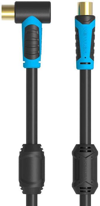 Vention VAV-A02-B200 антенный кабель угловой (2 м)VAV-A02-B200Кабель Vention VAV-A02 предназначен для передачи аналоговых высокочастотных телевизионных сигналов, а также коммутации теле-видео устройств по средствам коаксиального разъема. Коаксиальная жила выполнена из высококачественной чистой бескислородной меди, а ферритовые кольца на кабеле обеспечат подавление помех. Удобная угловая форма одного из концов кабеля предоставит возможность для более практичного подключения труднодоступных участков коммутации устройств.
