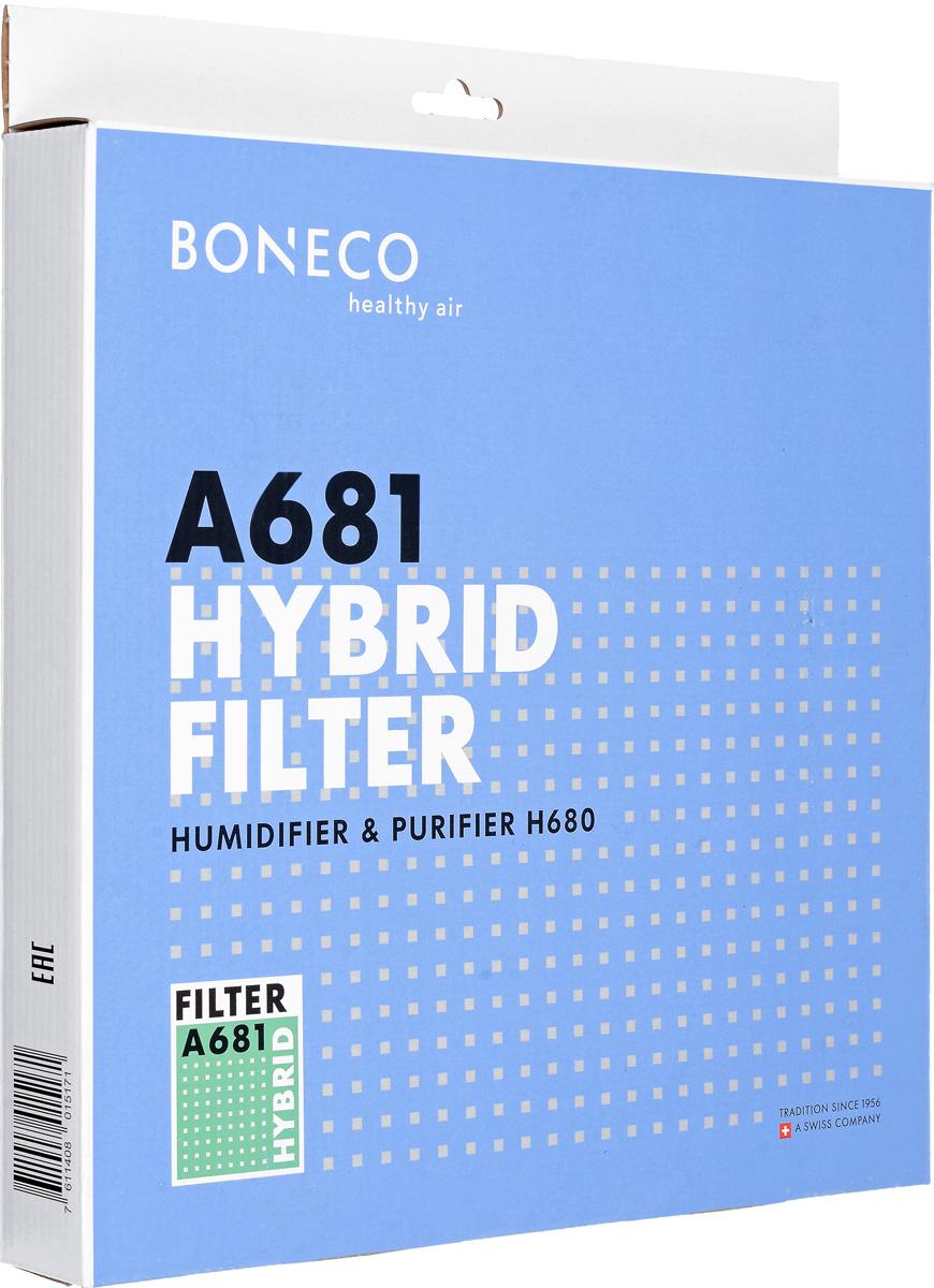 Boneco HEPA Filter + Active Carbon Filter A681 комплект фильтров для Н680A681Гибридный фильтр Boneco HEPA Filter + Active Carbon Filter A681 - это уникальный, по своей технологии, фильтр. Это комбинированный фильтр 2 в 1: НЕРА фильтр и угольный фильтр. Фильтр НЕРА 11 очищает воздух от пыли, шерсти, пыльцы, бактерий, микробов, насекомых, вредных газов, гари, летучих соединений. Угольный фильтр очищает воздух от смога, табачного дыма, формальдегида и выхлопных газов. Данный фильтр предназначен для климатического комплекса Boneco H680.