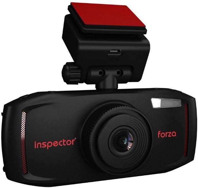 Inspector Forza, Black видеорегистраторFORZAАвтомобильный видеорегистратор Inspector Forza включает весь стандартный набор функций устройства видеофиксации. Для получения качественной видеозаписи в формате FullHD 1080p 30к/с регистратор оснащен современным процессором Ambarella A7L и матрицей OmniVision OV4689 с широкоугольной оптикой для максимального охвата дорожной обстановки. Все видеоролики и фотографии устройство записывает на карту памяти MicroSD, которая устанавливается в специальный слот расширения для MicroSD карт памяти объемом до 64 Гб. При необходимости просмотра записанного видео на месте регистратор Inspector Forza оснащен большим встроенным дисплеем 2,7 дюйма. Также устройство поддерживает функцию сохранения защищенных от перезаписи видеороликов в ручном режиме и по датчику G-Sensor. Разрешение фото: 4800 x 2700 Объектив: f=3.4 при F2.0 Аккумулятор: 500 мАч Формат файлов: MOV (MPEG-4) / JPEG