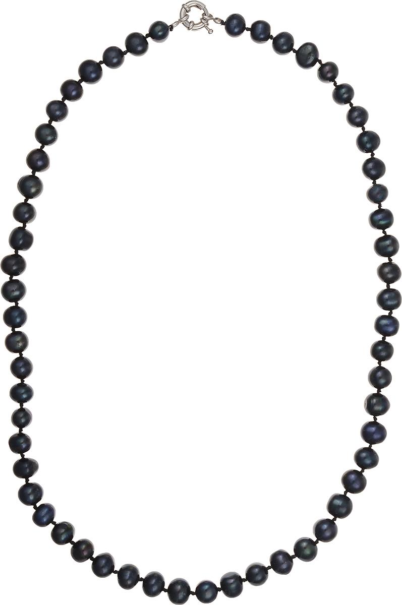 Бусы Art-Silver, цвет: синий, длина 55 см. КЖ9-10АВ55-414Колье (короткие одноярусные бусы)Бусы Art-Silver подчеркнут изящество и непревзойденный вкус своей обладательницы. Они выполнены из бижутерного сплава и культивированного жемчуга диаметром 9 мм.Изделие оснащено удобным замком-карабином.Культивированный жемчуг - это практичный аналог природного жемчуга. Бусинки из прессованных раковин помещаются внутрь устрицы и возвращаются в воду. Когда бусины покрываются перламутром, их извлекают из моллюска. Форма жемчужины получается идеально ровной с приятным матовым блеском.