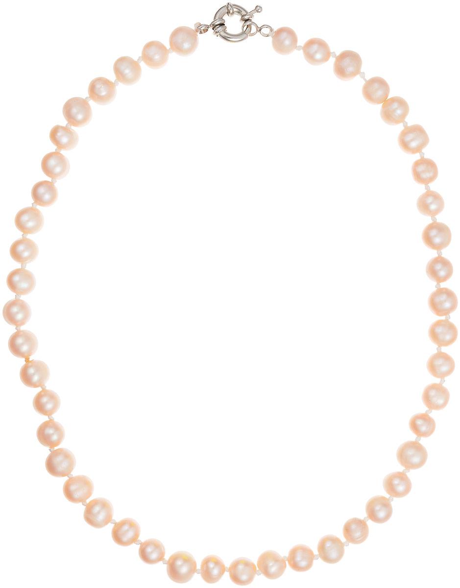 Бусы Art-Silver, цвет: светло-бежевый, длина 40 см. КЖр8-9А+40-537Бусы-ниткаБусы Art-Silver выполнены из культивированного жемчуга, нанизанного на текстильную нить. Украшение имеет удобный крупный шпренгельный замок.Мелкие бусины диаметром 6-8 мм из натурального культивированного жемчуга нежно-бежевого цвета имеют слегка неоднородную форму, что подчеркивает естественное происхождение жемчужин.