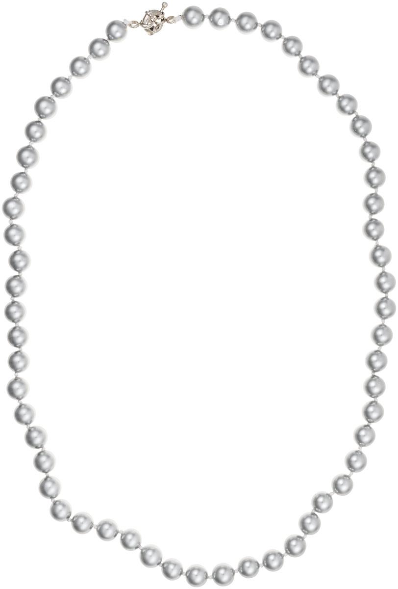 Бусы Art-Silver, цвет: серый, длина 55 см. МАЙ30855-412Бусы-ниткаБусы Art-Silver выполнены из бижутерного сплава и искусственного жемчуга. Изделие оснащено удобной шпренгельной застежкой.